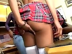 Nice ebony lesbians play in hot games